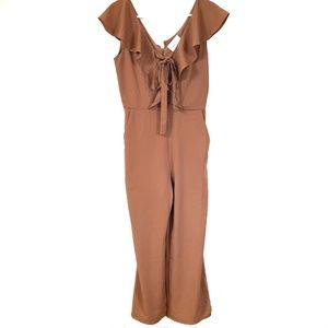 Blush Boutique Mauve Ruffle Jumpsuit